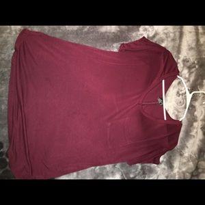 Burgendy shirt